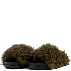Shoes - Women's OLIVE Fury Slides